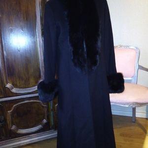 Katherine Kelly Jackets & Coats - KATHERINE KELLY Cashmere & Real Blue Fox Fur
